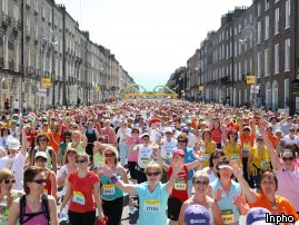 Start of Women's Mini Marathon (from RTE.ie)